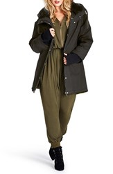 Plus Size Women's Mynt 1792 Dolman Sleeve Military Jacket