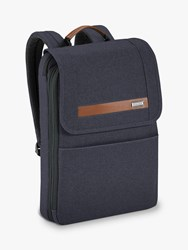 Briggs And Riley Kinzie Street 2.0 Slim Flapover Expandable Backpack Navy