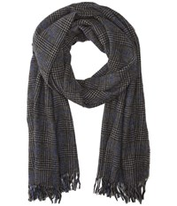 John Varvatos Glen Plaid Shadow Scarves Brown