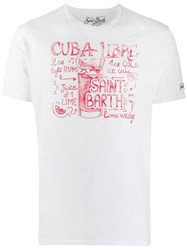 Mc2 Saint Barth Cuba Libra Print T Shirt White