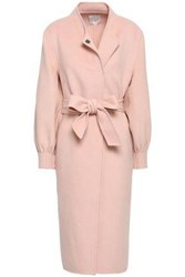 Joie Woman Belted Wool Blend Felt Coat Blush