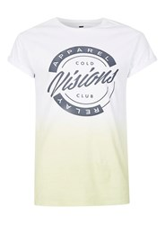 Topman Lime Green Faded Muscle Fit Roller T Shirt