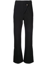 Ellery Wright And Wrong Flared Trousers Black