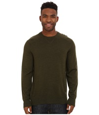 Smartwool Kiva Ridge Crew Loden Heather Men's Long Sleeve Pullover Green
