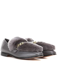 Boyy Loafur Leather And Fur Loafer Grey