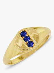 London Road 9Ct Gold Sapphire Signet Ring