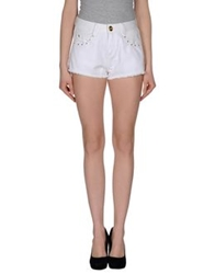 Lez A Lez Denim Shorts White