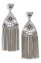 Kendra Scott Women's Ana Drop Earrings Antique Silver