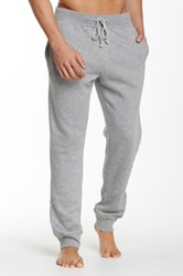 Majestic Rib Trim Fleece Lounge Pant Gray
