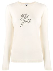 Bella Freud Oh You Cashmere Sweater Neutrals