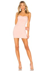 By The Way Carla Faux Suede Strapless Dress Blush