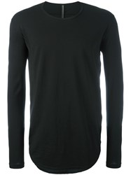 Attachment Long Sleeved Curve T Shirt Black