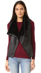 Cupcakes And Cashmere Rick Faux Suede Vest Black