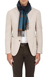 Colombo Men's Plaid Cashmere Scarf Turquoise