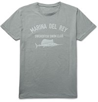 Hartford Printed Slub Cotton Jersey T Shirt Gray