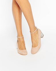 New Look Emebllished Block Heeled Shoe Oatmeal Stone