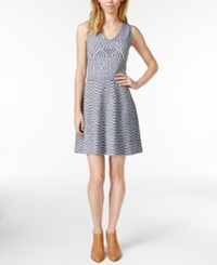 Maison Jules Printed Fit And Flare Sweater Dress Only At Macy's
