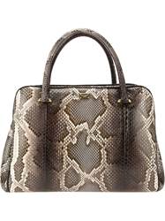 Dolce And Gabbana 'Miss Lily' Python Skin Tote Grey