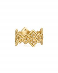 Armenta Sueno 18K Wide Crivelli Band Ring W Diamonds Gold