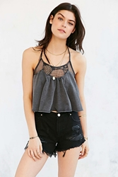 Staring At Stars Lace Swingy Tank Top Black