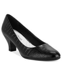 Easy Street Shoes Easy Street Fabulous Pumps Women's Shoes Black Croco