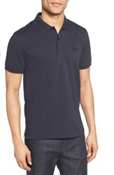 Boss Men's 'Pallas' Regular Fit Logo Embroidered Polo Shirt Dark Blue