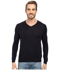 Calvin Klein Merino Moon And Tipped V Neck Sweater Roma Men's Sweater Red