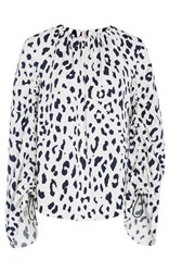 Tibi Satin Cheetah Easy Top Print
