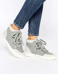 Aldo Lyddon Grey High Top Trainers Greyflannel