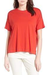 Eileen Fisher Women's Organic Cotton Boxy Tee Lava