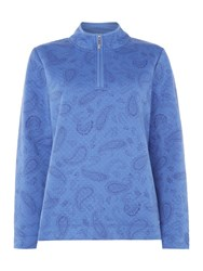 Tigi Paisley Print Sweater Blue