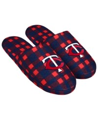 Forever Collectibles Minnesota Twins Flannel Slide Slippers Navy