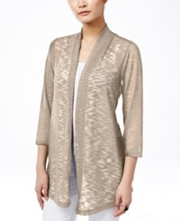 Jm Collection Petite Lace Back Cardigan Only At Macy's Stone