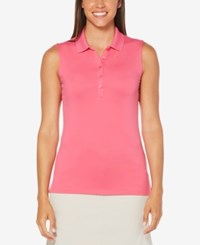 Callaway Sleeveless Golf Polo Dark Pink