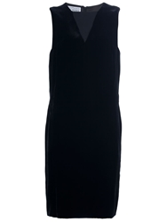 Gianfranco Ferre Vintage Slash Neck Shift Dress Black