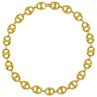 Eclectica Vintage 1980S Gold Plated Chunky Necklace Gold