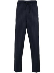 3.1 Phillip Lim Pinstriped Track Pants Black