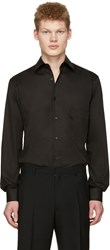 Christophe Lemaire Black Straight Collared Shirt