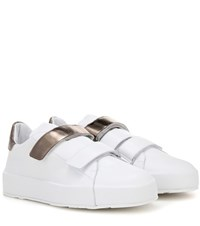 Jil Sander Leather Sneakers White