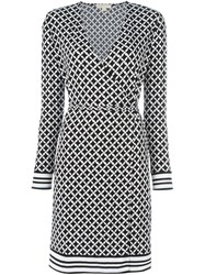 Michael Michael Kors Geometric Print Wrap Dress Black