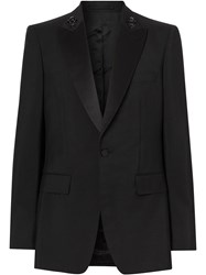 Burberry English Fit Embellished Mohair Wool Tuxedo Jacket 60