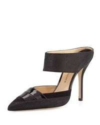 High Heel Leather Mule Black Paul Andrew