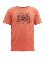 Rrl Double Rl Logo Print Cotton T Shirt Red