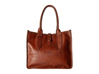 Frye Amy Shopper Cognac Oiled Vintage Leather Tote Handbags Brown