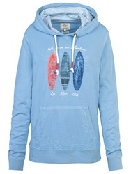 Fat Face Surf Board Overhead Hoodie Light Chambray