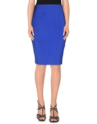Cameo Skirts Knee Length Skirts Women Blue