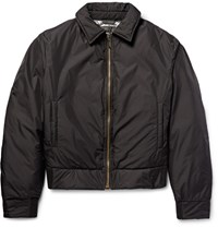 Calvin Klein Collection Nebraska Shell Down Bomber Jacket Black