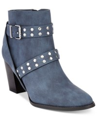 Styleandco. Style Co. Betzie Buckle Booties Only At Macy's Women's Shoes Navy