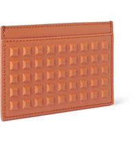 Balenciaga Studded Matte Leather Cardholder Orange