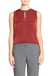 Trouve Trouve Grommet Detail Sleeveless Top Red
